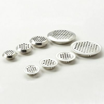 2pcs Round Stainless Steel Cupboard Wardrobe Air Vent Decorative Mesh Cover