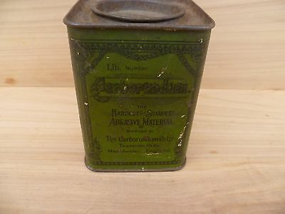Vintage Old Green English Abrasive Workshop Advertising Tin, (E600)