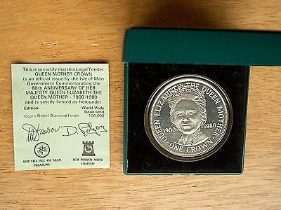 Isle of Man - 1980 Queen Mother Crown - Boxed