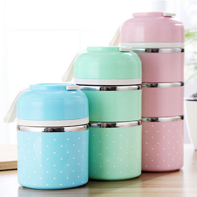 Storage Portable Insulated Lunch Box Bento Picnic Thermal Food Container 7756HC