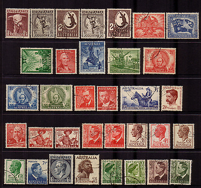 Australia Pre-Decimal...page Of Stamps Many With Full Gum ..cto