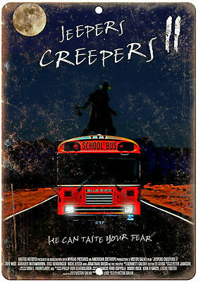 """10"""" x 7"""" Metal Sign - Jeepers Creepers 2 Francis Coppola - Vintage Reproduction"""