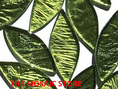 Large Yellow-Green Silverfoil Glass Petals