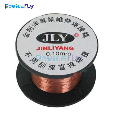 2/5/10PCS 0.1MM Copper Soldering Solder Enamelled Reel Wire Roll Connecting