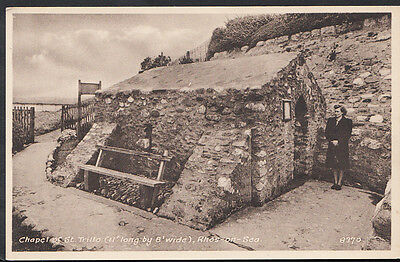 Wales Postcard - Chapel of St Trillo, Rhos-On-Sea   RS3028
