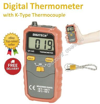 Workshop Digital Thermometer Lab Field Temperature Tester -50 to 750°C Range