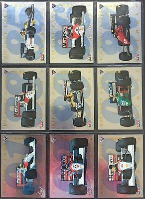 1994 Futera Formula One Motor Racing Victory Lane 9 Card Trading Card Set Mint
