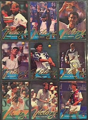 1996 Intrepid Blitz Tennis Victory 18 Trading Card Set Mint Condition