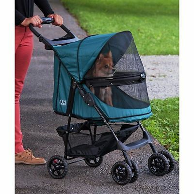 Foldable Pet Stroller Dog Cat Puppy Travel Gear Swivel Wheels Animal Comfy Pram