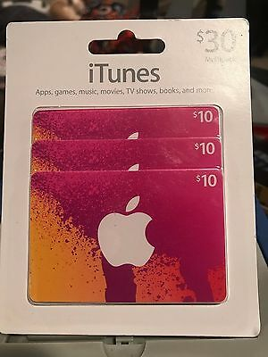 iTunes Gift Card $30.00  free shipping