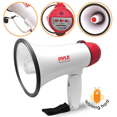 PYLE PRO MEGAPHONE SPEAKER Professional Bullhorn With Siren Hockey Soccer