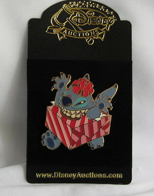 Disney Auction Pin (P.I.N.S.) Stitch Wrapped in Present  (2003) LE 1000