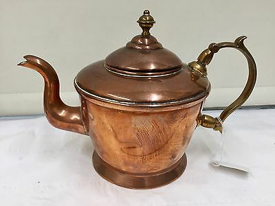 Victorian Copper Tea Kettle