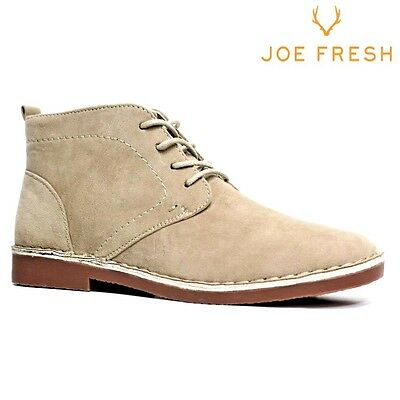 Mens Suede Style Casual Retro Chukka Lace Desert Ankle Boots Shoes Size 7-12