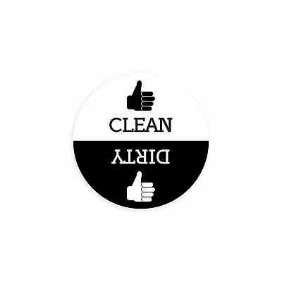 Clean Dirty Round Dishwasher Magnet with Thumbs Up / Thumbs Down- Regular Design