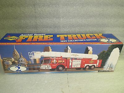 SUNOCO 1995 AERIAL FIRE TRUCK-COLLECTOR'S EDITION #2 in the Series-NIB