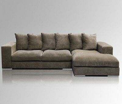 chesterfield sofa ecksofa couchgarnitur silber samt emma sessel couch design eur. Black Bedroom Furniture Sets. Home Design Ideas