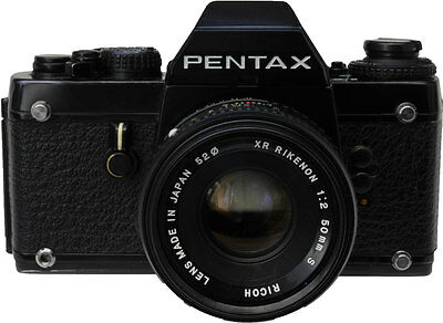 Pentax LX SLR Film Camera with Ricoh 50mm f2 Lens.