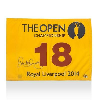 Rory McIlroy Signed 2014 Open Championship Pin-Flag Autograph