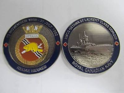 HMCS Ottawa Royal Canadian Navy Challenge Coin