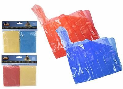 2 x Emergency Rain Ponchos Adult Re-Usable Twin Pack Camping Festivals outdoor