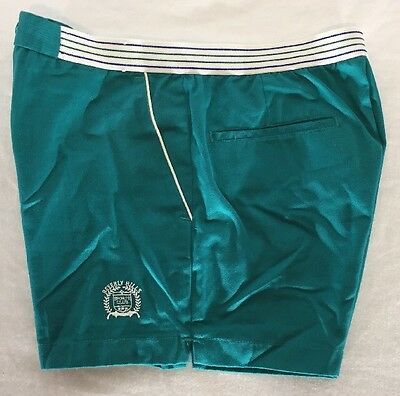 Vintage Early '80s Beverly Hills Sports Club Shortie Shorts Men's 32 Teal Green