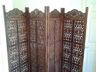 Indian antique mahogany folding screen/room divder