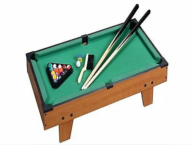 Large Table Top Pool Set Childrens Cue Balls Toy Snooker Game Deluxe Play Set