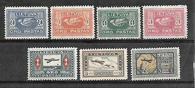 LITHUANIA - 1921 AIRS Complete Set - M/M