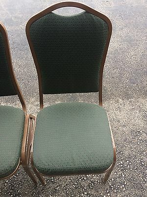 199, Green Shelby Williams Banquet Chairs. Read Description For Delivery.