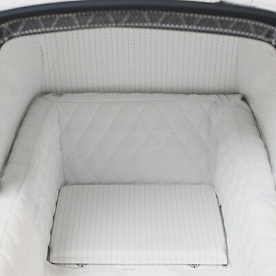 Silver Cross Kensington Pram Quilted Fabric Bed Liner by Baby Birds