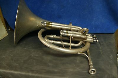 CG CONN Elkhard IND USA Cornet FRENCH HORN  NEEDS WORK Military issue