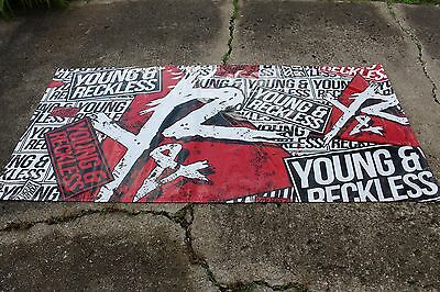 Young & Reckless Vinyl Advertising Sign Display Red Black Street Wear 93.5 x 46