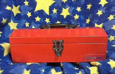 Supreme 14 Fw Big Box Logo Metal Tool Box Red Strong Cdg Tnf Accessory Sup Large