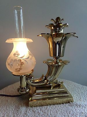 Antique Messenger & Sons Argand Style Oil Lamp........converted.