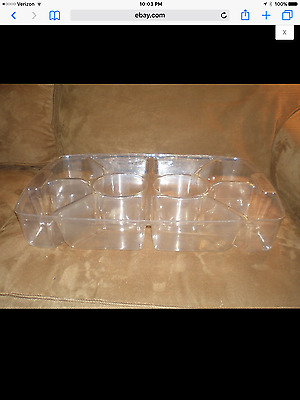 Longaberger Hostess Serving Tray 10-Way Divided Protector