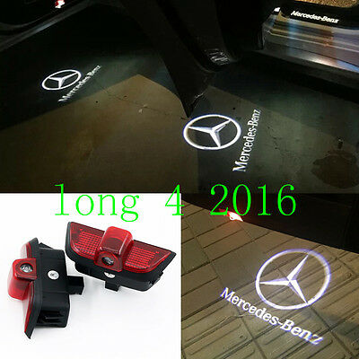 2x Ghost LED Door Step Courtesy Shadow Laser Light For Benz C-Class W204 2008-14