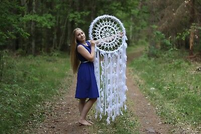 GIANT dream catcher, BOHO wedding decor, large dream catcher wall hanging, white