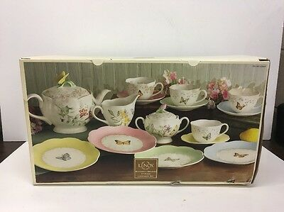 Retired LENOX Butterfly Meadow Set of 17 Luncheon Set , Brand New In Box