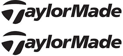 2x TAYLORMADE Golf Logo Vinyl Decal Sticker. 3 sizes. 10 colours