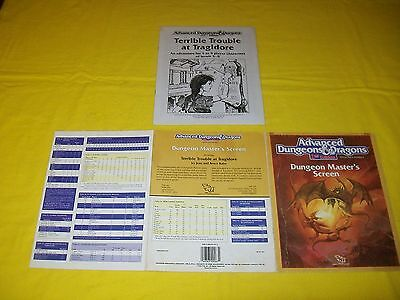 Dungeon Master's Screen Dungeons & Dragons Ad&d 2Nd Edition 9263 With Module - 5