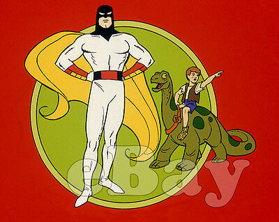 Rare! SPACE GHOST AND DINO BOY Cartoon Color TV Photo HANNA BARBERA Studios
