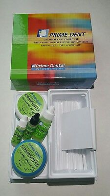 Prime Dent Dental Chemical Self Cure Composite Kit 15gm /15gm. EXP:2020/05.