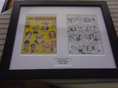 The Broons 80Th Anniversary Print Framed 1936 - 2016