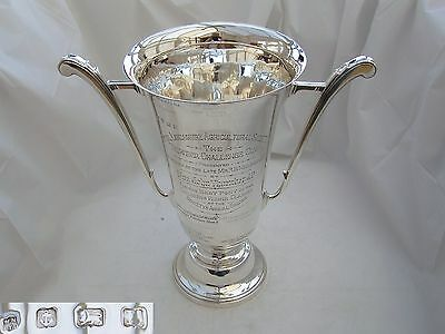 Rare George V Hm Sterling Silver 2 Handled Trophy Cup 1935