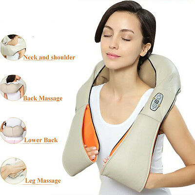 Health Care Pillow Kneading Neck Shoulder Back Waist Belly Massager With Heat UK