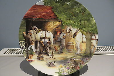 Royal Doulton Plate 'the Blacksmith' From The Old Country Crafts Series 1990