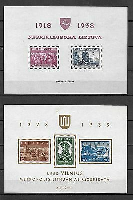 LITHUANIA - 4x Different Mini-Sheets  - All MNH