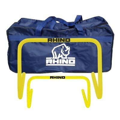 Set Of 6 Pvc Sports Training Hurdles + Carry Bag
