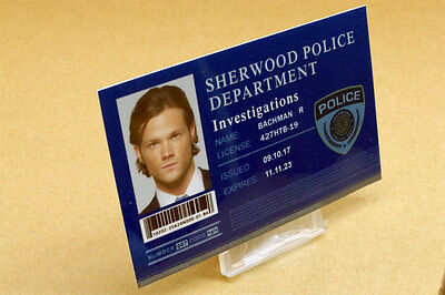 Supernatural prop costume cosplay - Sam Winchester Sherwood Police ID Card